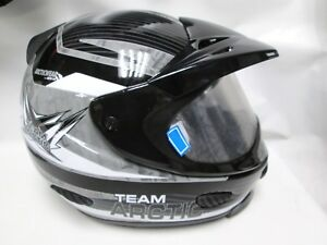 Team Arctic Black TXI Snowmobile Helmet 2XL 5272-238