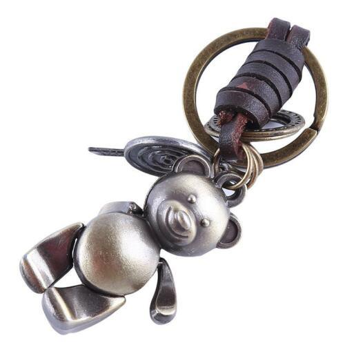 1 Piece Creative rétro ours mignon porte-clés Porte-Clés Trousseau Pendentif Cadeau BL3