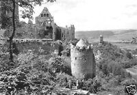 AK, Bad Kösen, Blick von der Rudelsburg nach Burg Saaleck, 1977
