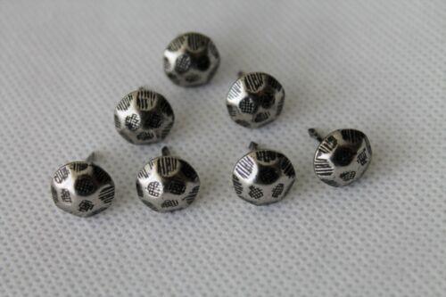 Ziernägel Hammerschlagnägel Polsternägel 11 mm Durchmesser Type 9 H Altsilber