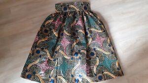 Jupe En Wax Taille 38 Mi Longue Taille Haute Printemps Ete Ethnique Multicolore Ebay