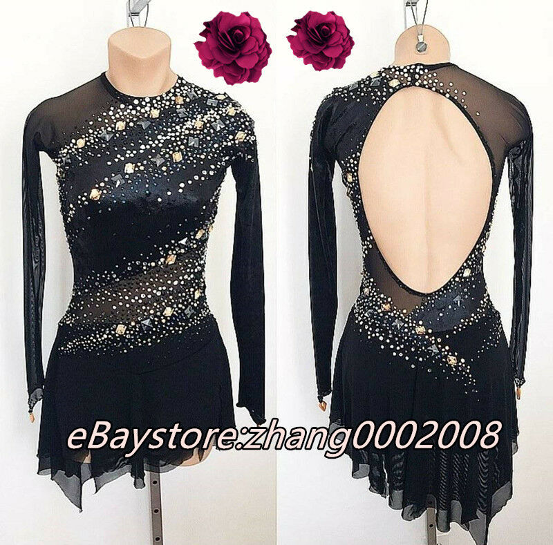 Ice Figure Skating Dress  Acro Twirling Gymnastics Costume Tap Dance Leotard