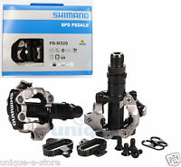 SHIMANO PD-M520 MTB Mountain Bike Clipless Pedals With SPD + SM-SH51 Cleats set