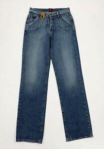 Dolce-Gabbana-jeans-uomo-usato-gamba-dritta-W30-tg-44-blu-boyfriend-denim