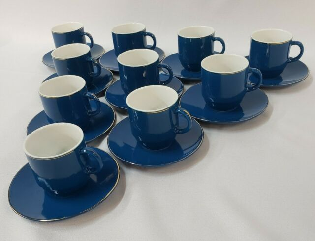 Complet Espresso Coffee Set 1 Coffee Maker 6 Cups 6 Saucers with Cuban flag new