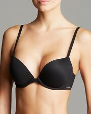 SPECIAL!!! Calvin Klein Perfectly Fit Memory Touch Push Up Bra QF1120 Black 34B