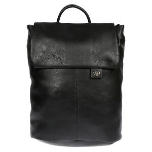 City-Damen-Rucksack-mit-Notebook-Tablet-Fach-Leder-Optik-Tasche-Schwarz-Backpack
