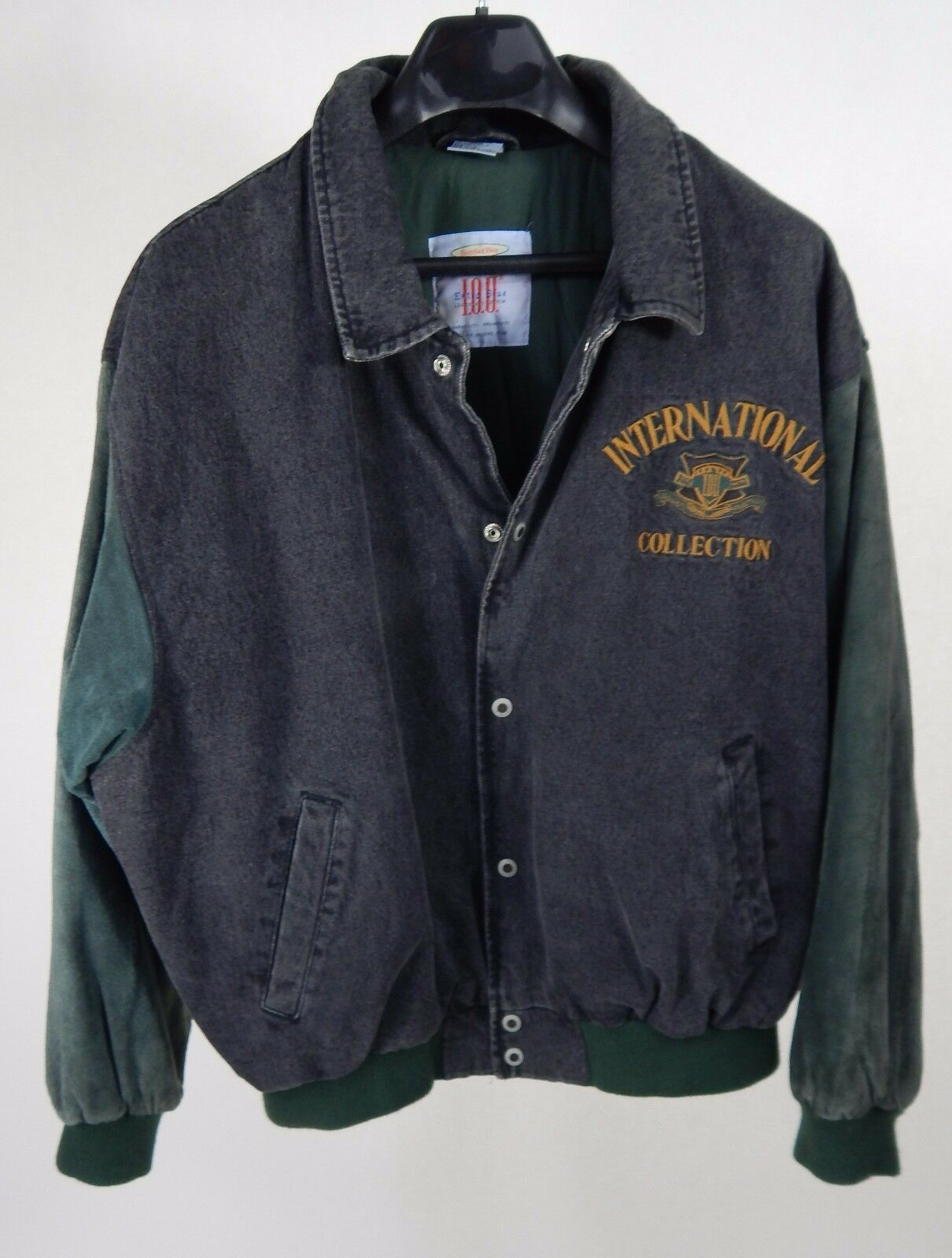 I.O.U. International Collection Denim Suede Coat Sz XL