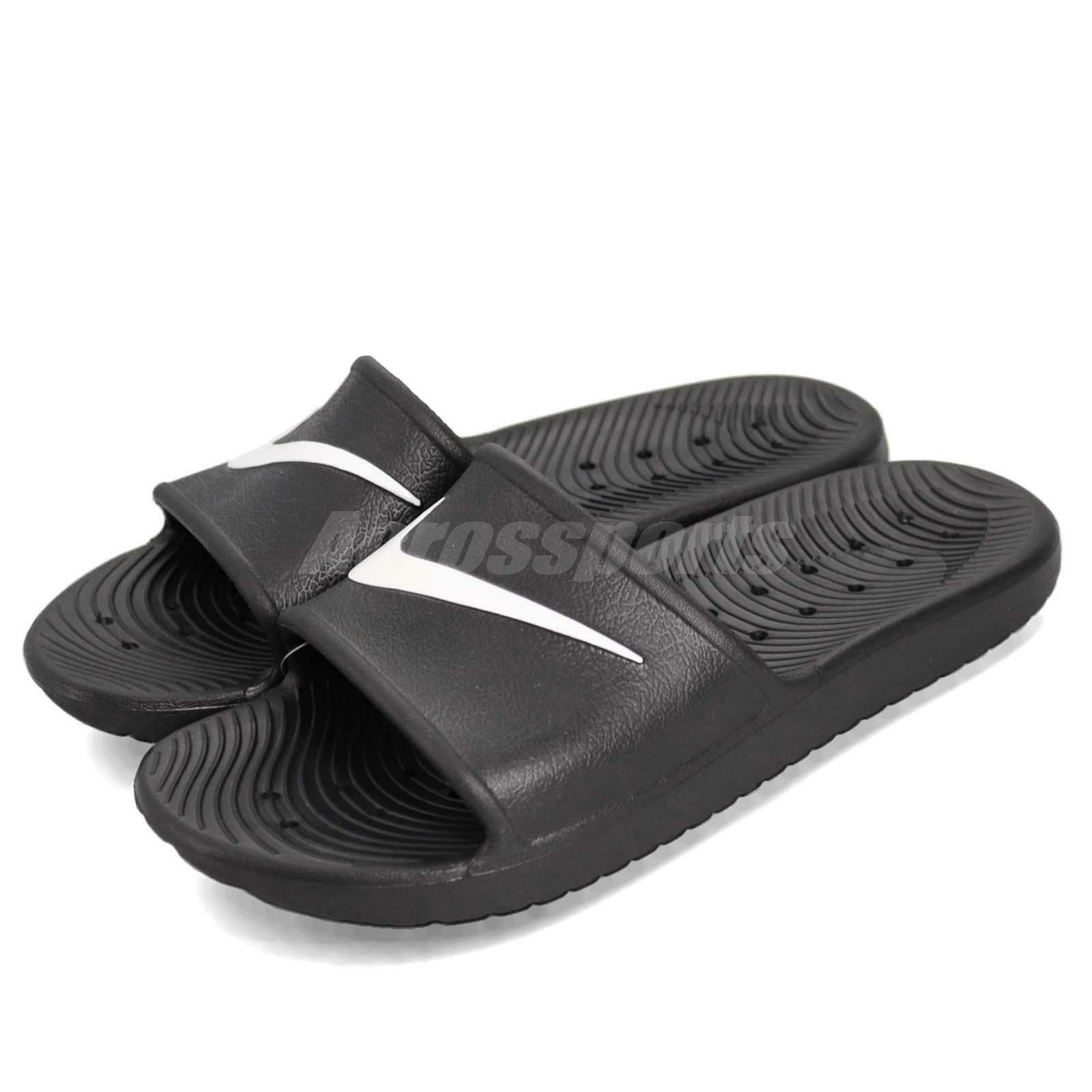 Nike KAWA SHOWER Men/'s Slide Black//White Slipper 832528 001  Free Shipping
