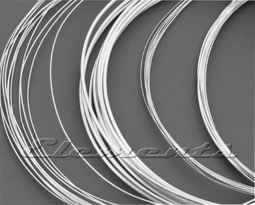 Silver Plated Non Tarnish Jewellery Craft Round Wire on REEL 0.2mm 1mm