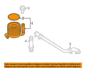 Subaru Oem 98 05 Forester 2 5l H4 Engine Oil Cooler 21311aa010 Ebay
