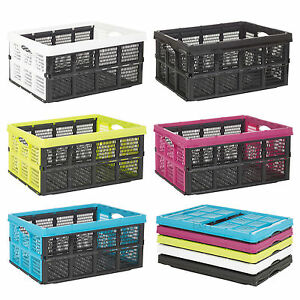 Collapsible-31-Litre-Plastic-Storage-Crate-Box-Solution-Home-Warehouse-Garage