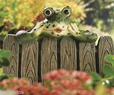 Garden Ornament Cheeky Frog Hedge Peeker, Long lasting resin