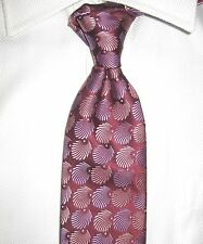 TED BAKER LONDON SILK TIE BURGUNDY/SALMON/LILAC HAND MADE IN USA NEW W/ TAG