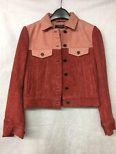 Muubaa London Women's Leather/Suede Pink Jacket. Size UK 8. RRP £425.