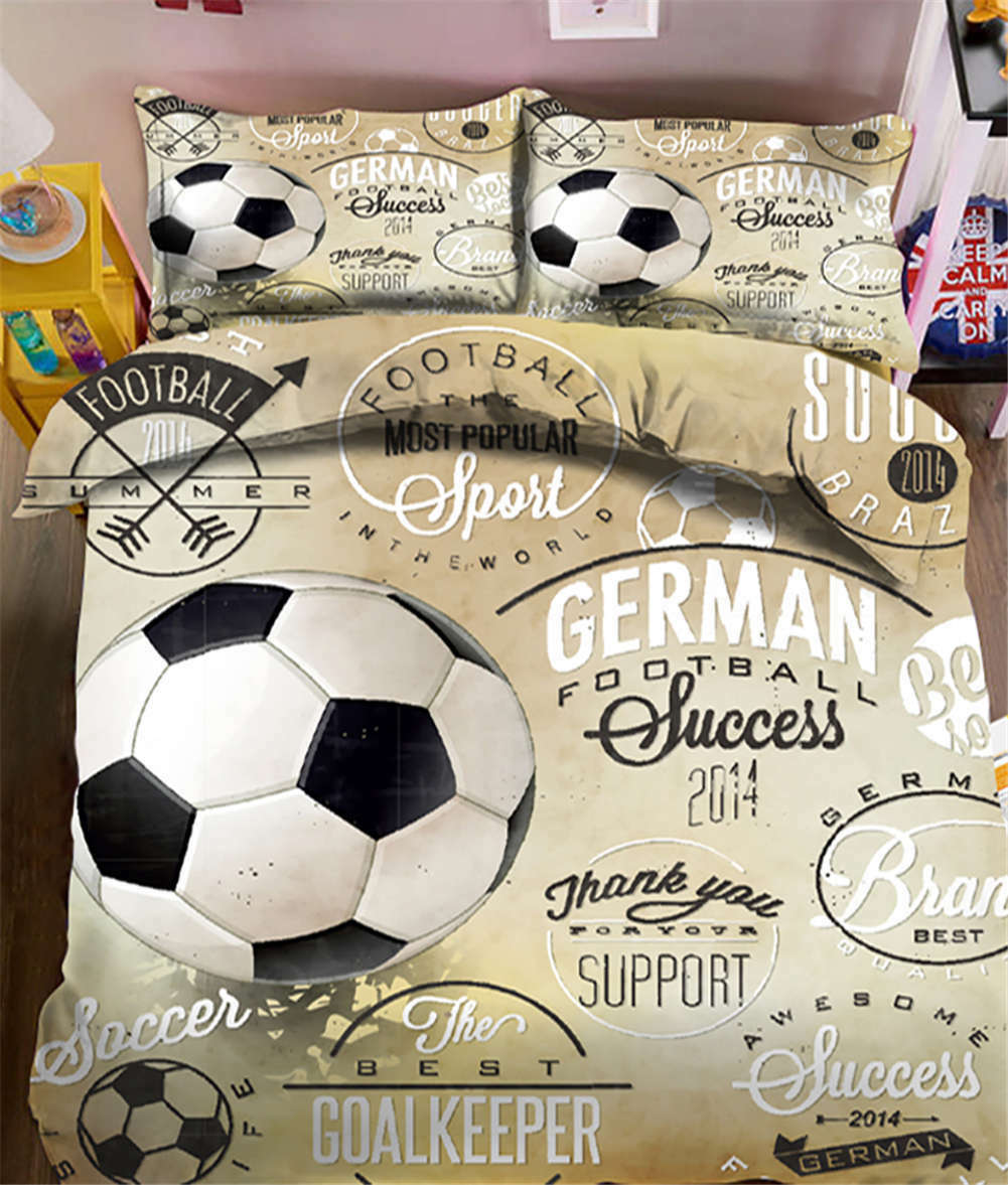 Saltant Football 3D Printing Duvet Quilt Doona Covers Pillow Case Bedding Sets