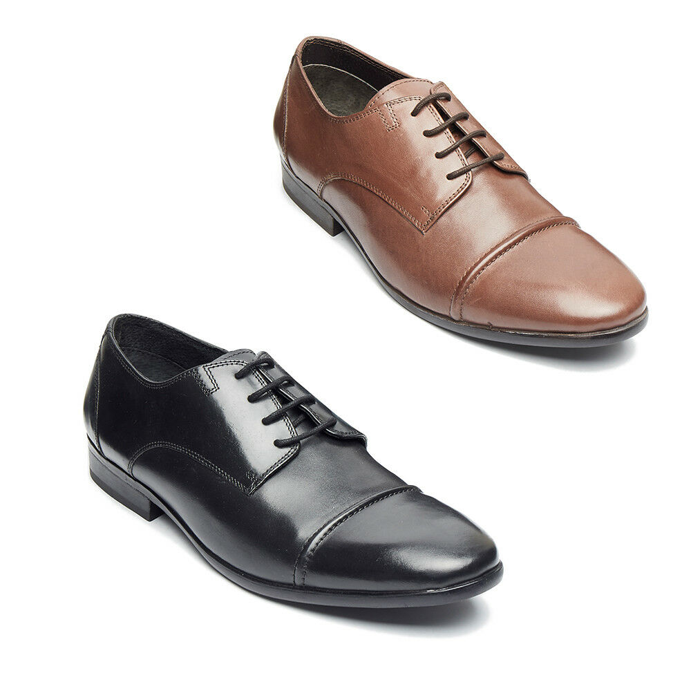 MENS CASUAL  OXFORD  SHOES FORMAL PARTY OFFICE SMART LEATHER LACE UP