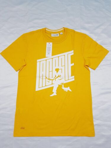 409a8d799 7 of 8 Lacoste Logo Men s T-Shirt Top Slim Fit Cotton Tee Genuine - Yellow  - TH5016