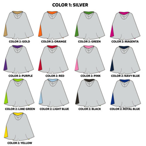 Everfan Adult Double-Sided Hooded CloakReversible Hooded Cape for Adults