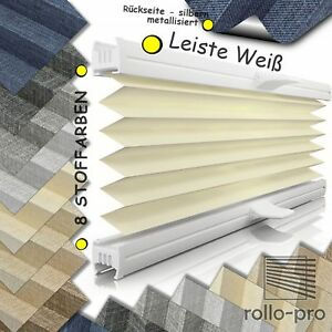 plissee faltrollo ohne bohren plisee nach ma klemmfix signum bo profil wei ebay. Black Bedroom Furniture Sets. Home Design Ideas