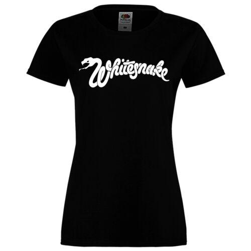 LONGSLEEVE//SHORTSLEEVE METAL ROCK BLACK DAMEN//WOMEN T-SHIRT,WHITESNAKE 2