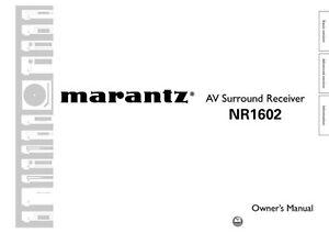 marantz nr1602 receiver owners instruction manual ebay rh ebay ie