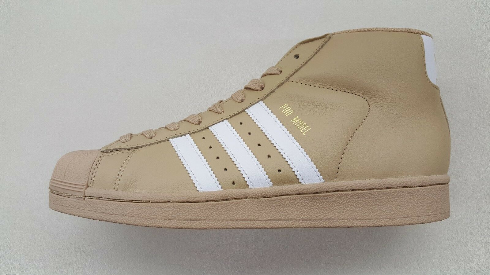 ADIDAS ORIGINALS PRO MODEL KHAKI BEIGE WHITE gold MENS SIZE SNEAKERS CG5072