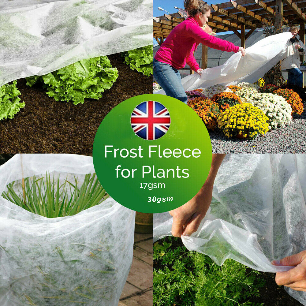 Garden Fleece Plant Protection White Cover Frost Winter HEAVY DUTY - UK DISPATCH