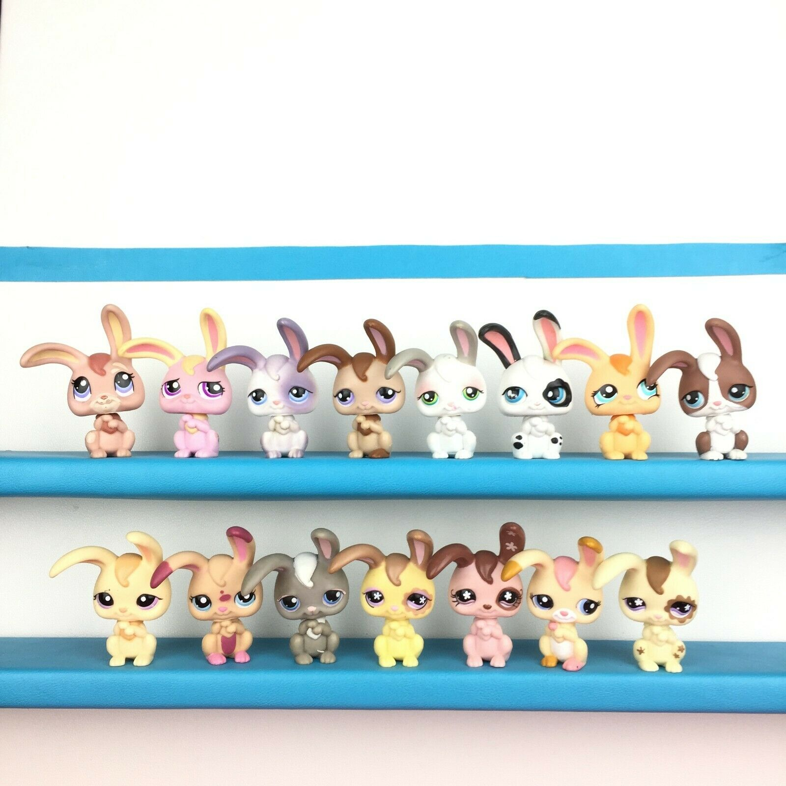 Authentic 15 Littlest Petshop Lot Rabbit Bunny Long Ear LPS Set