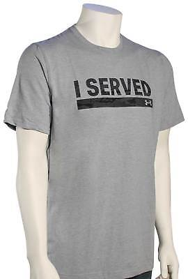 Under Armour I Served T-Shirt Black Steel Light Heather New