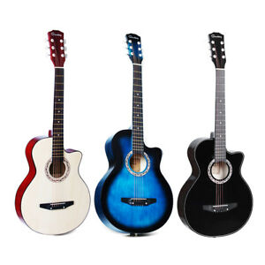 38 Inch Acoustic Classic Guitar Basswood Body Musical Instrument For Beginners Guitars & Basses