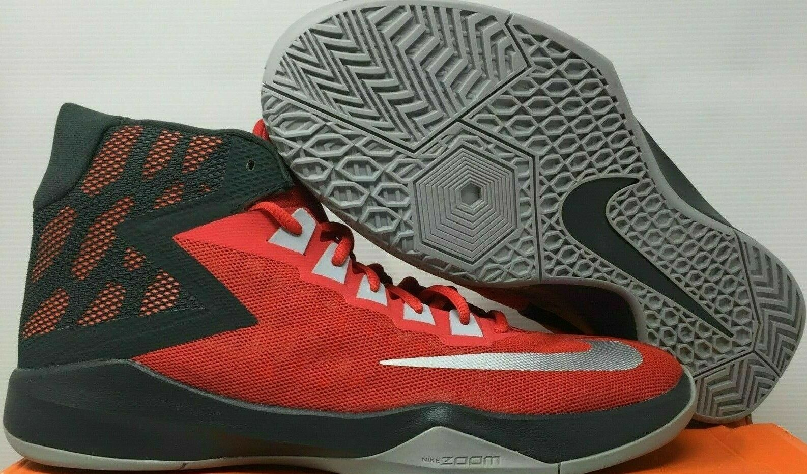 Nike Men's Zoom Devosion Red 844592-600 Basketball shoes Size 14  80