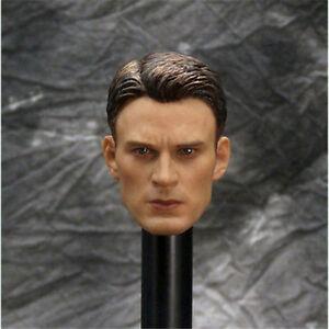 """1/6 Custom America Chris Evans Head Sculpt Avengers for 12"""" for Phicen Body A27"""