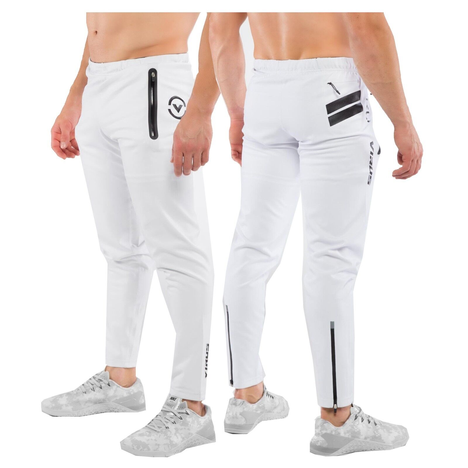 VIRUS Bioceramic KL1 Active Recovery Pants Unisex (Au15) WHITE,Crossfit