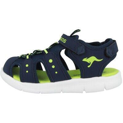Aus Dem Ausland Importiert Kangaroos K-mini Sneaker Kinder Sandale Schuhe Sandaletten Navy Lime 02035-4054
