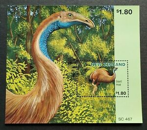 1996-New-Zealand-Extinct-Birds-Giant-Moa-Mini-Sheet-MS-Mint-NH