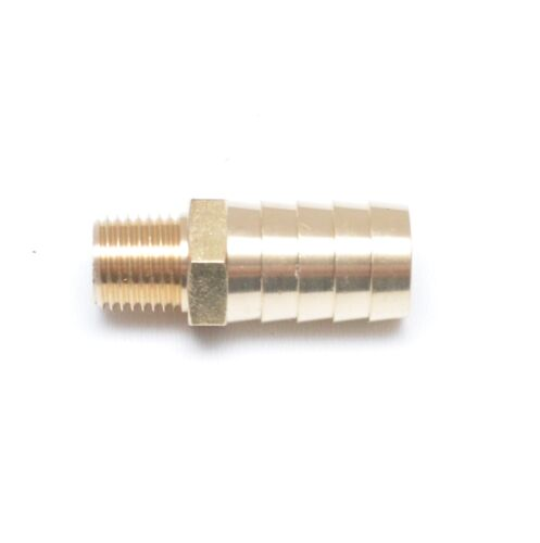 Straight 5/8 Hose ID Barb 1/4 Male NPT Brass Fitting Water Oil Gas Air Fuel