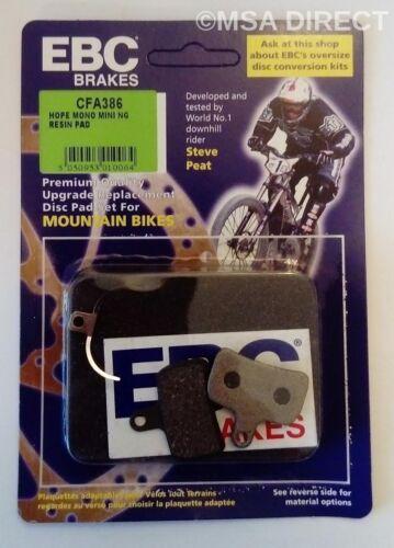 Hope Mono Mini NG CFA386 EBC Mountain Bike Disc Brake Pads composé organique