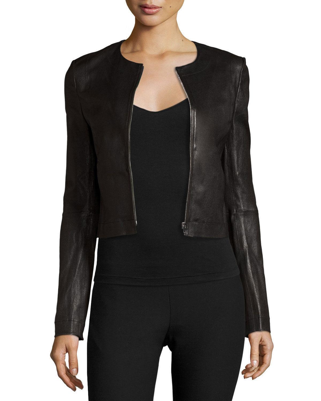 Para mujer Chaqueta de cuero moto Negro  entallada abrigo de motorista Suave Prendas de abrigo S M I16  entrega rápida