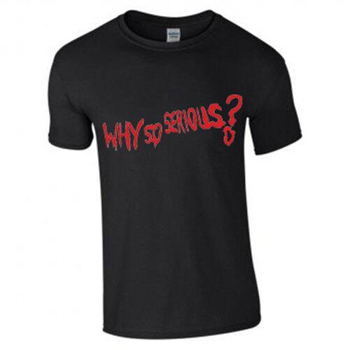 Les adultes New Halloween Batman Joker Why So Serious Rouge Imprimé à manches courtes T-Shirt