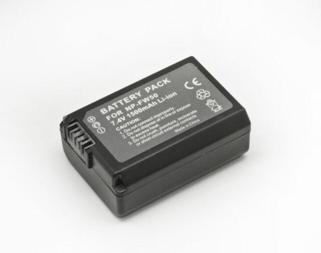 Batterie pour Sony NP-FW50 A72 A7II A7s SLT-A37 A7R A33 A55 A7 NEX 7 NEX 5
