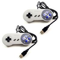 2x Snes Usb Nintendo Retro Classic Controller For Pc/mac/raspberry Pi Retropi