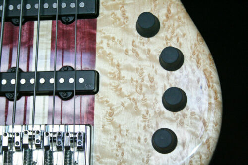 Black Three Standard Rubber KNOBEEZ Guitar and Bass Knobs