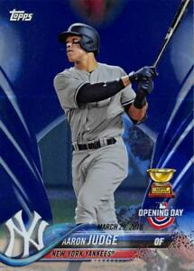 2018-Topps-Opening-Day-Blue-Foil-Variants-Variations-Pick-From-List