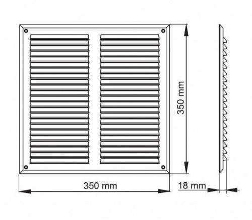 """Griglia AERAZIONE Marrone 350mm x 350mm con schermo Fly Ventilazione Cover 14/"""" x 14/"""""""
