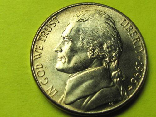 1996 P Uncirculated Jefferson 5 cent