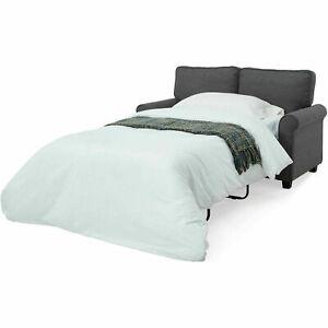 Astonishing Mainstays Ms Ss Tw W120 57 Memory Foam Mattress Sofa Sleeper Gray Creativecarmelina Interior Chair Design Creativecarmelinacom