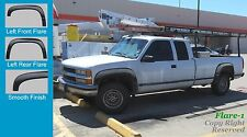 EXTENSION Style FENDER FLARES PAINTABLE GMC 88-98 1500 C/K, EXCLUDING Sport Side