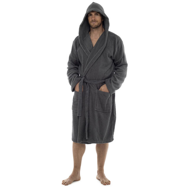 5e02012c90 Adults Mens 100 Cotton Luxury Towelling Dressing Gown Bath Robe UK M ...