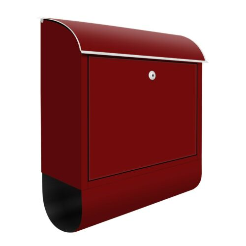 Briefkasten Design Burgunderrot mit Zeitungsrolle Einfarbig Rot Abstrakt Farbe